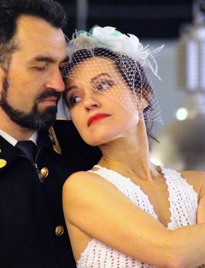 Couple de danseurs russes